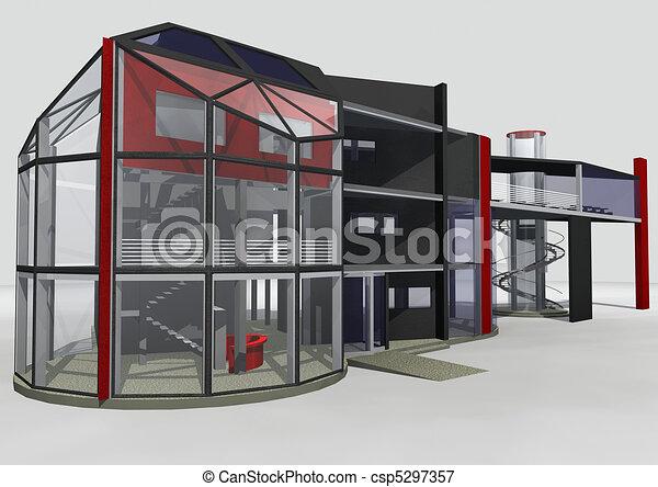 3d office building. Ar...