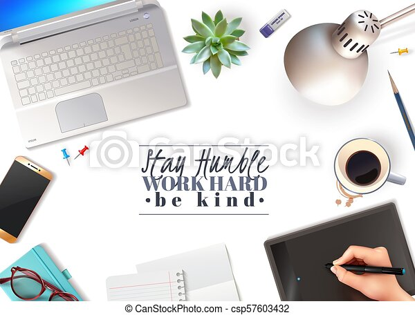 3d Office Objects Background 3d Office Objects Greeting Card On