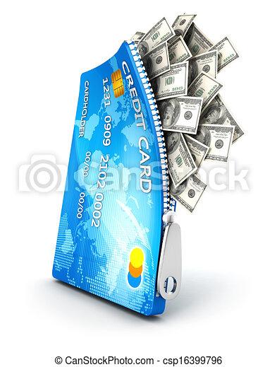 3d open credit card - csp16399796