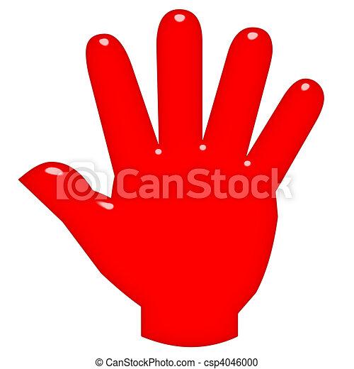 3D Open Hand - csp4046000