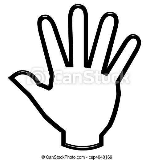 3D Open Hand - csp4040169