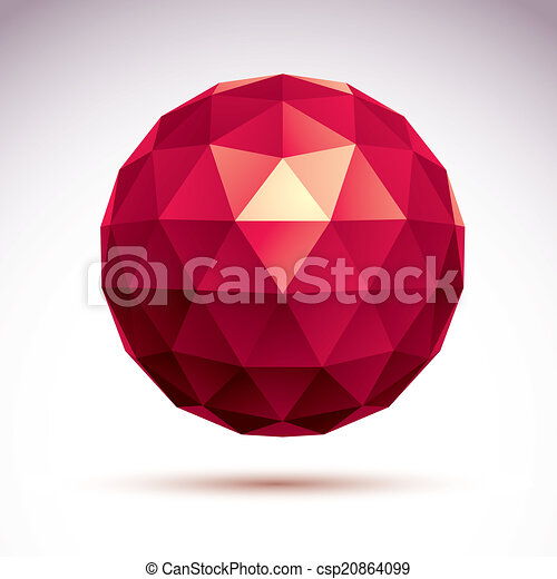 3D origami abstract object, vector abstract design element, clea - csp20864099