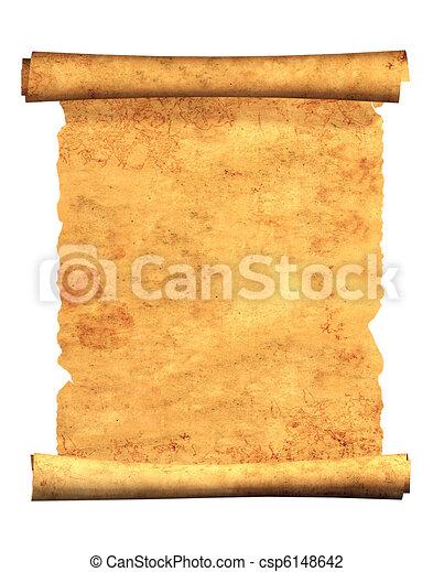 3d, oud, perkament, boekrol - csp6148642