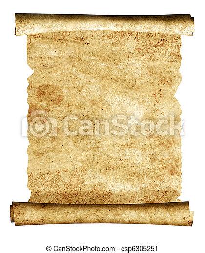 3d, oud, perkament, boekrol - csp6305251