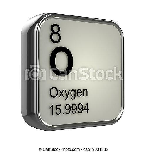 3d Oxygen element - csp19031332