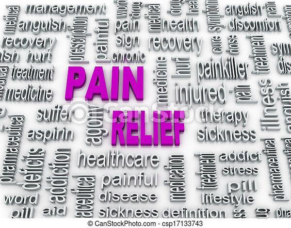 3d pain relief concept illustration design  - csp17133743
