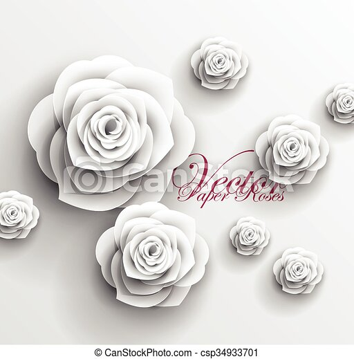 3d paper rose flowers vector abstract background vector clipart 3d paper rose flowers vector abstract background mightylinksfo Image collections