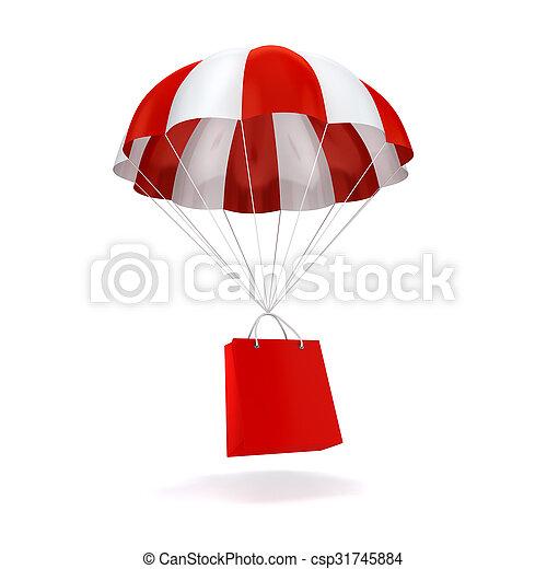 3d parachute and shopping bag - csp31745884