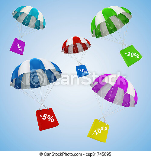 3d parachute and shopping bag - csp31745895