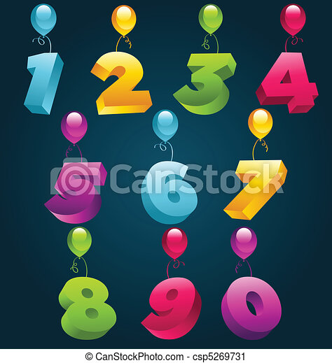 3D Party Numbers - csp5269731
