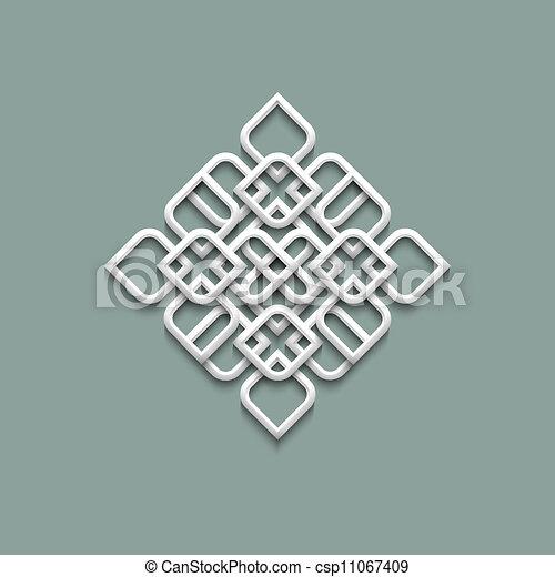 3d pattern in arabic style - csp11067409