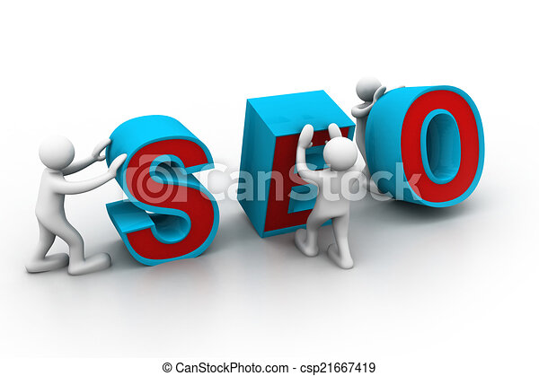 "3d people and word ""seo"".	 - csp21667419"