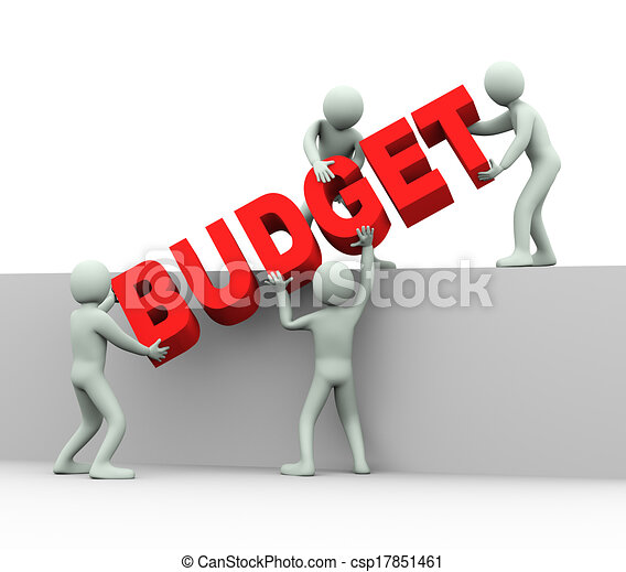 3d people - concept of budget - csp17851461