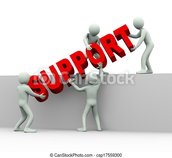 3d people - concept of help and support - csp17559300