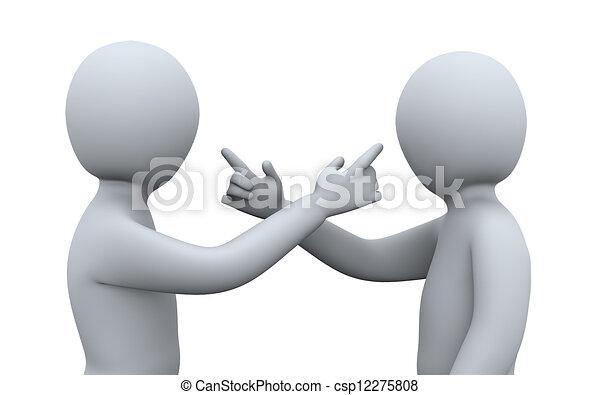 3d people having argument - csp12275808