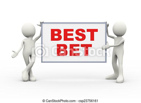 3d people holding best best board - csp23756161