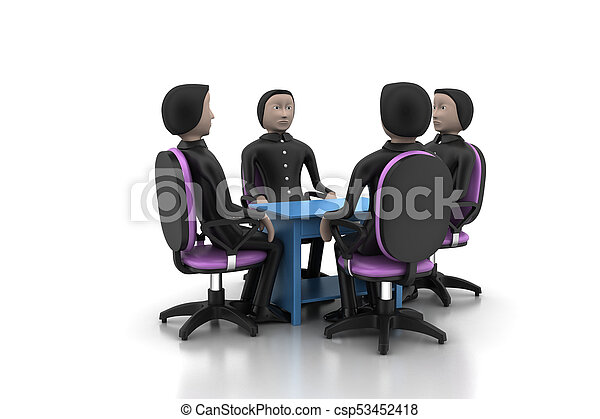 3d people in business meeting - csp53452418