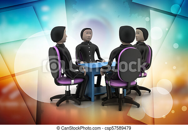 3d people in business meeting - csp57589479