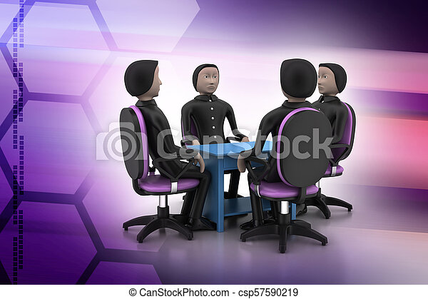 3d people in business meeting - csp57590219