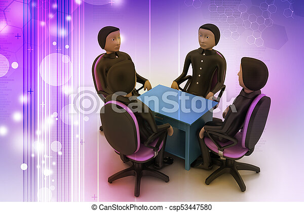 3d people in business meeting - csp53447580