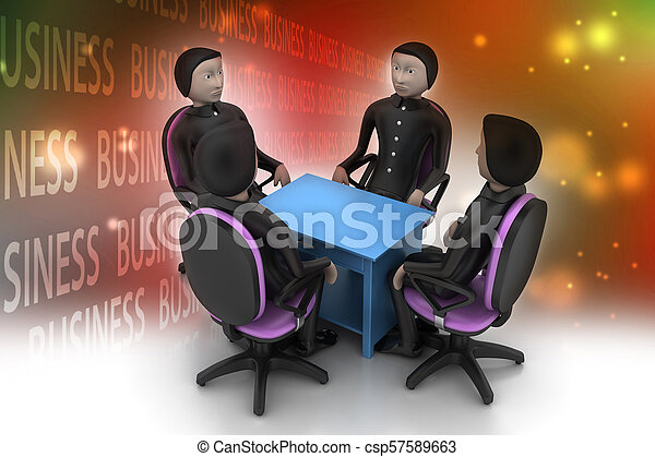 3d people in business meeting - csp57589663
