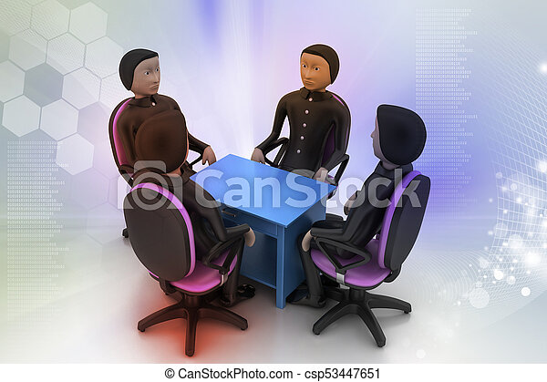 3d people in business meeting - csp53447651
