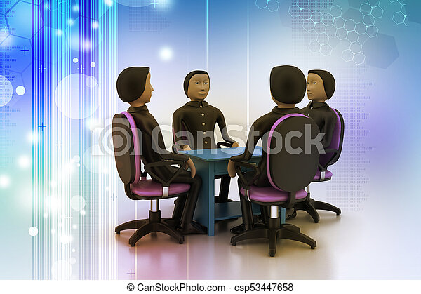 3d people in business meeting - csp53447658