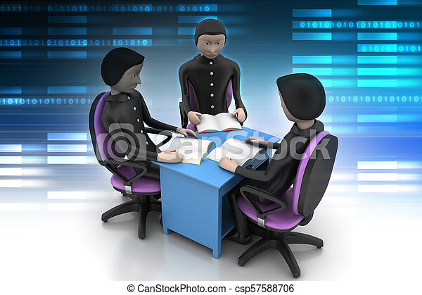 3d people in business meeting - csp57588706