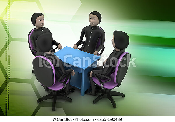 3d people in business meeting - csp57590439