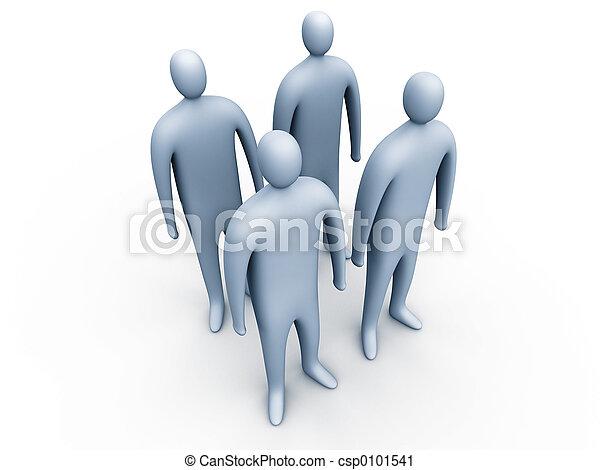 3d people standing#1 - csp0101541