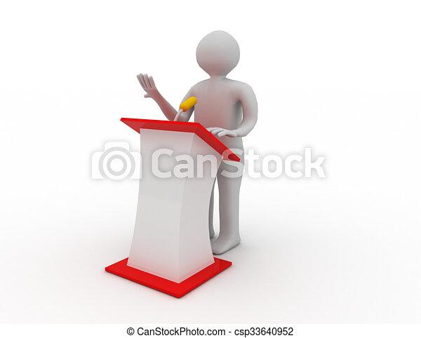 how to speak speech on stage