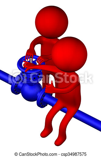 3d people with pipeline with valve isolated on white stock rh canstockphoto ie pipeline clip art free pipeline clipart images