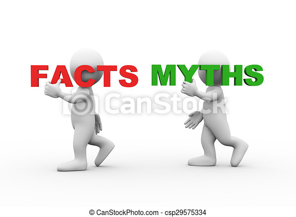 3d people word text facts myths - csp29575334