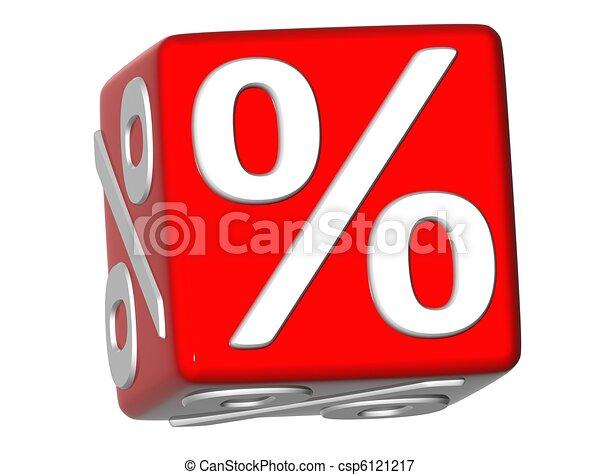 3D Percentage Sign - csp6121217