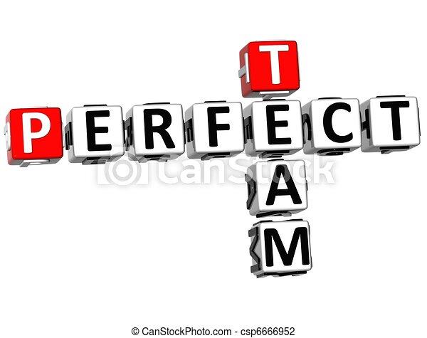3D Perfect Team Crossword