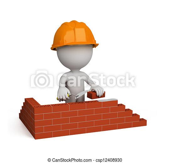 3d person – builder - csp12408930