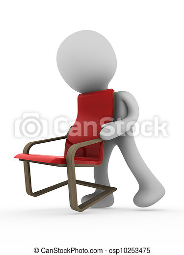 3d person carry chair - csp10253475