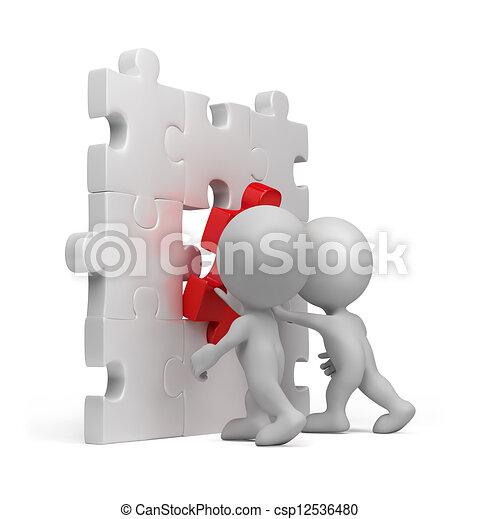 3d person - puzzle insert - csp12536480