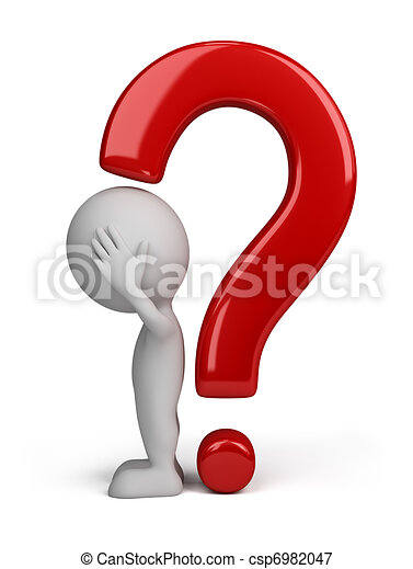 3d person - question mark - csp6982047
