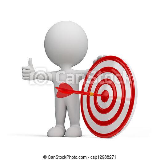 3d person - success target - csp12988271