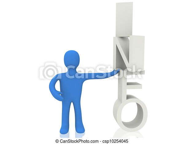 3d person with info - csp10254045