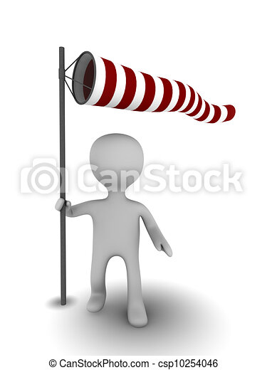 3d person with windsock - csp10254046