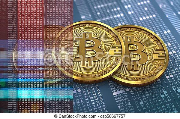 3d, pile, bitcoin - csp50667757