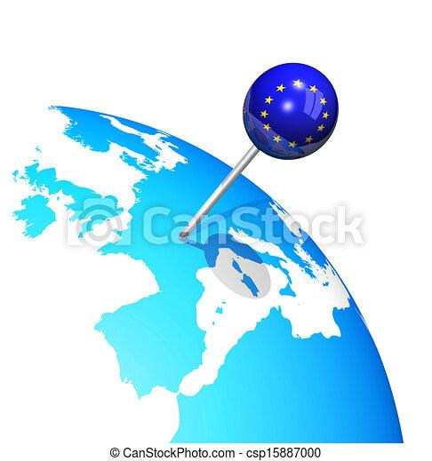 3d pin in europe map globe 3d pin in europe map globe csp15887000 gumiabroncs Choice Image