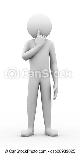 Un gesto de silencio 3D - csp20933025