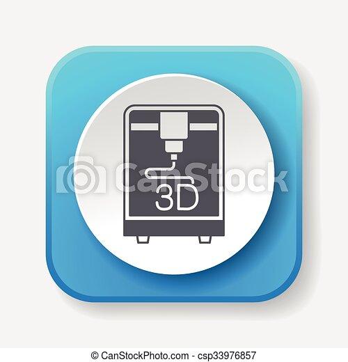 3D printing icon - csp33976857