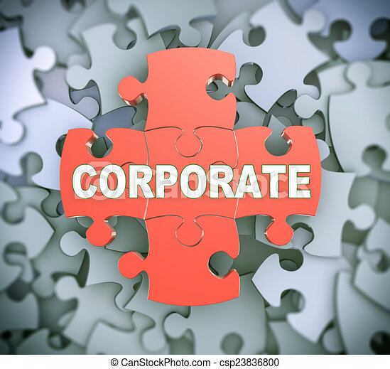 3d puzzle pieces - corporate - csp23836800