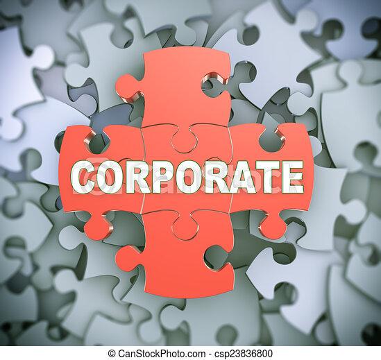 3d puzzle pieces - corporate - csp23836800