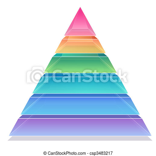 3D Pyramid Chart - csp3483217