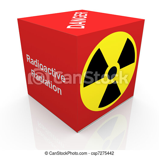 3d Radiation Symbol 3d Render Of Cube With Radioactive Radiation